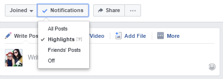 how to use facebook groups - highlight notifications