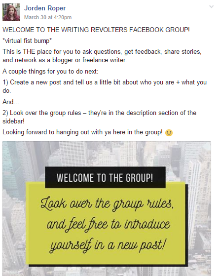 how to use facebook groups - introducing yourself